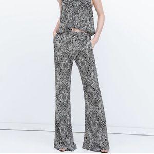 Zara High Waist Flared Trousers